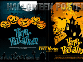 Vector Halloween Templates