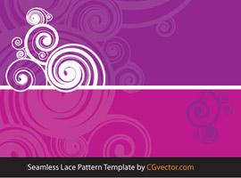 Seamless Lace Pattern Circle