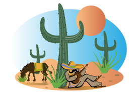 Mexican Landscape Vector Illustration