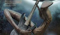 Guitarra Ibanez com design de H.R. Giger