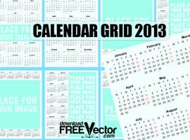 Vector Template Calendar 2013