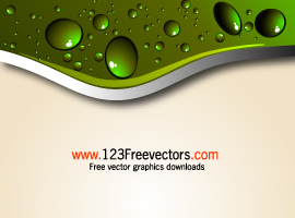 Abstract Background with Water Drops Vector Illustration