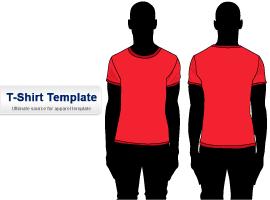 Free Short sleeve T-shirt Template Illustrator