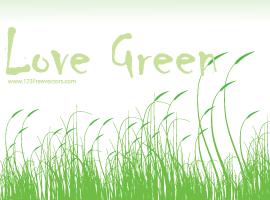 Love Green Vector